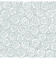 white seamless pattern outline stylized roses vector image