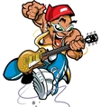 Wild Rock Guitar Player vector image vector image
