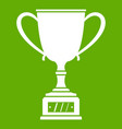 winner cup icon green vector image