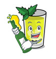 with beer mint julep mascot cartoon vector image