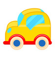 yellow toy car with white wheels vector image vector image