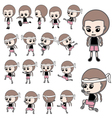 Boxing Girl Thai vector image