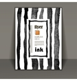 flyer brochure art with ink stains vector image