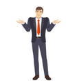businessman with an i dont know gesture