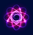abstract atom from particles abstract light vector image