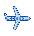 aircraft line icon vector image vector image