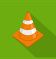 alert cone icon flat style vector image vector image