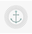 Anchor in shapes of heart Round thin line frame vector image vector image