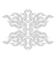 artistic art pattern on a white vector image vector image