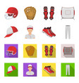 baseball cap player and other accessories vector image