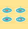 blue sticker smoothie cocktail fruit and berry set vector image