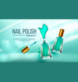 bottle of green nail polish cosmetic banner
