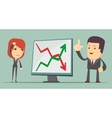 Business people with profit and loss arrow vector image
