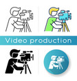 cameraman icon vector image vector image