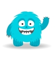 Cartoon cute monster on white background vector image vector image