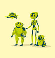 cartoon robots cyborgs androids set vector image