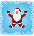 christmas santa claus snow background vector image vector image
