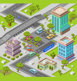 city parking lot isometric 3d vector image