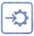 cog integration fabric textured icon vector image vector image