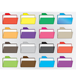 Colored file folders vector image vector image