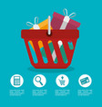 commercial set isolated icons vector image