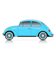 compact blue car vector image vector image
