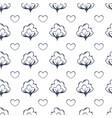 cottonboll love line art seamless pattern vector image vector image