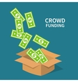 Crowdfunding investing to startup business idea vector image
