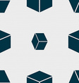 cube icon sign Seamless pattern with geometric vector image vector image