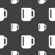 cup coffee or tea icon sign Seamless pattern on a vector image