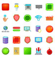 data protection icons set cartoon style vector image vector image