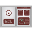 Design a menu for coffee vector image vector image