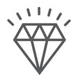 diamond line icon expensive and luxury vector image