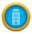 dutch houses icon blue isolated vector image vector image