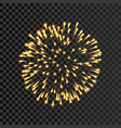 firework gold bursting isolated transparent vector image vector image