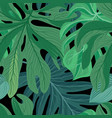 floral abstract leaf tiled pattern tropical vector image