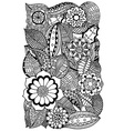 floral zentangle vector image vector image