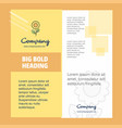 flower company brochure title page design company vector image