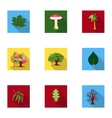 Forest set icons in flat style Big collection of vector image