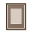 frame with mount vector image vector image