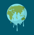 graphic of a melting earth vector image