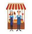 grocery business cartoons vector image vector image