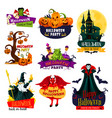 halloween monster icon for october holiday design vector image vector image