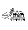invitation to grand opening ceremony on 25 august vector image vector image