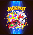 jackpot casino big win collage banner vector image vector image