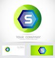 Letter S green ball sphere logo vector image vector image