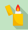 lighter icon flat style vector image vector image