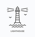 lighthouse flat line icon outline vector image vector image