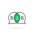 linear b2b speech bubble icon vector image