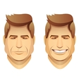 male faces vector image